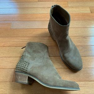 Marc Fisher Zen Studded Suede Booties, size 7.5